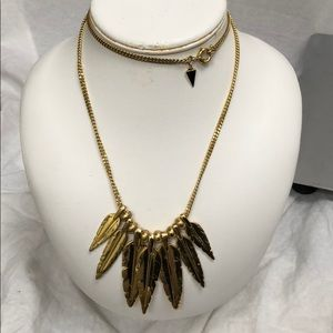 Long Rebecca Minkoff Dangle Feather Necklace